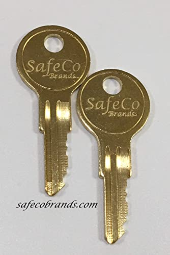 SafeCo Brands Replacement 1347 Fire Alarm Keys 2- Keys 1347 Silent Knight