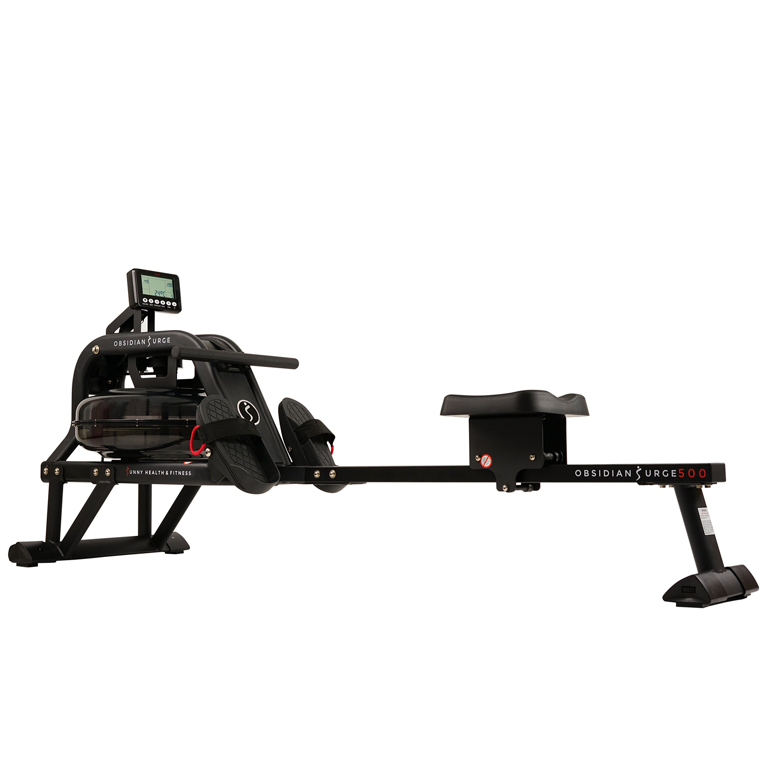 Sunny Health & Fitness Water Rowing Machine Rower w/ LCD Monitor - Obsidian SF-RW5713 by Sunny Health & Fitness