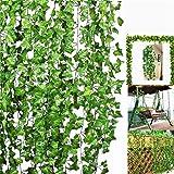 Litleo Artificial Trailing Ivy Vine Leaf Ferns Greenery Garland Plants Foliage Flowers Decorations Bonsai Wild Artificial Plant (180 cm, Green) (3)