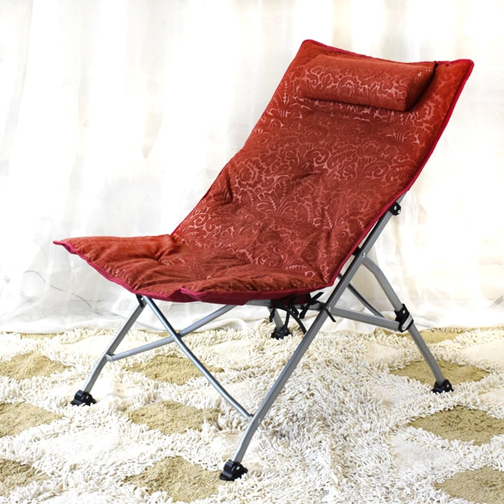 Lunch break chair / recliner Office nap chair / folding chair / single lounge chair / backrest chair / sun chair ( Color : C )