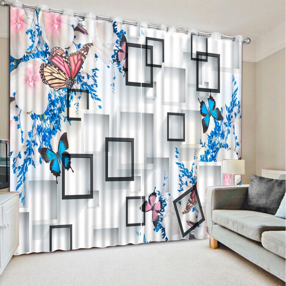 Sproud 3D Printing Curtains Room Decorations Blackout Cortians Beautiful Full Light Shading Bedroom Curtains 260Dropx200Wide(Cm) 2 pieces