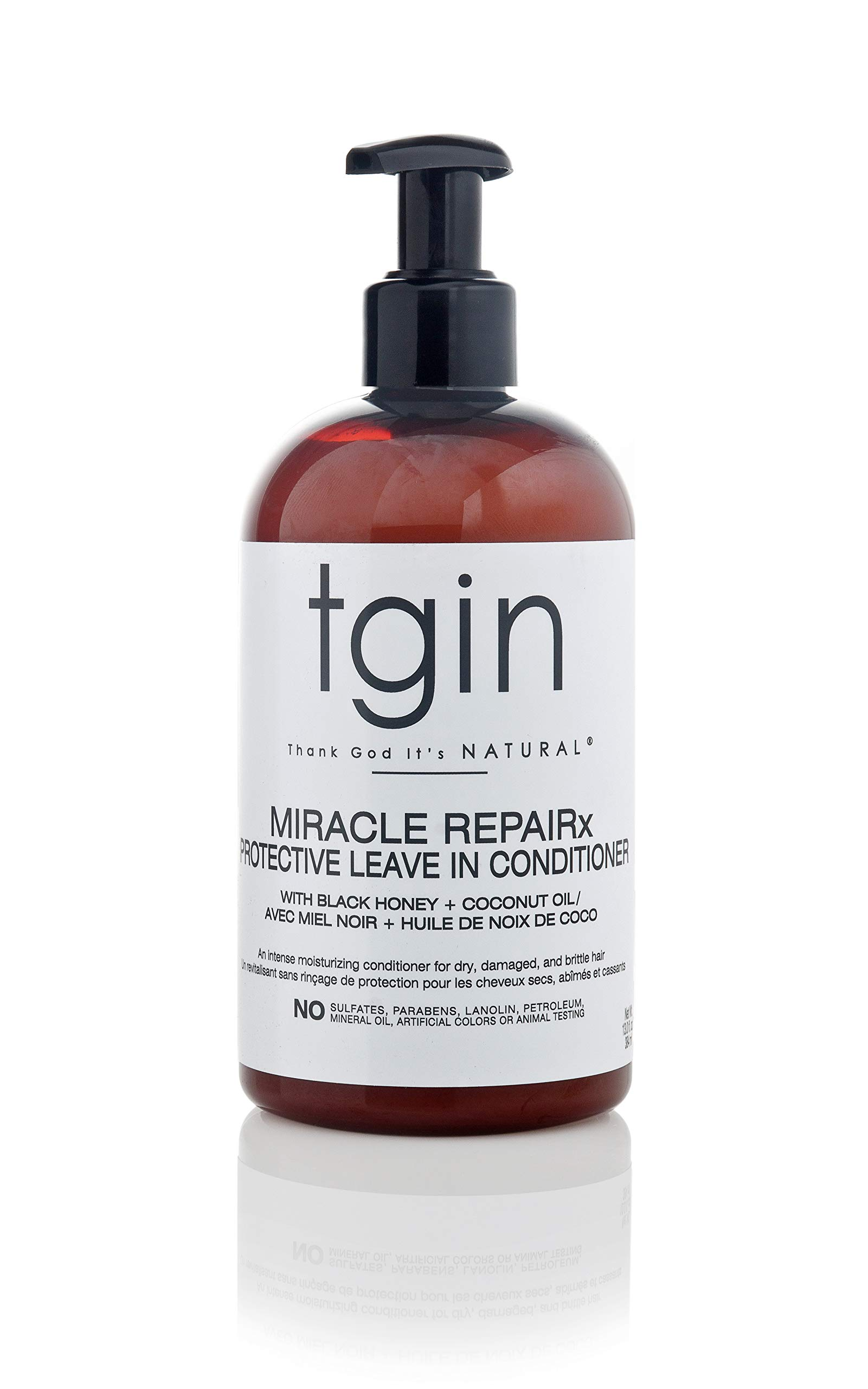 tgin Miracle Repairx Protective Leave In Conditioner For Natural Hair - Dry Hair - Curly Hair - 13 Oz