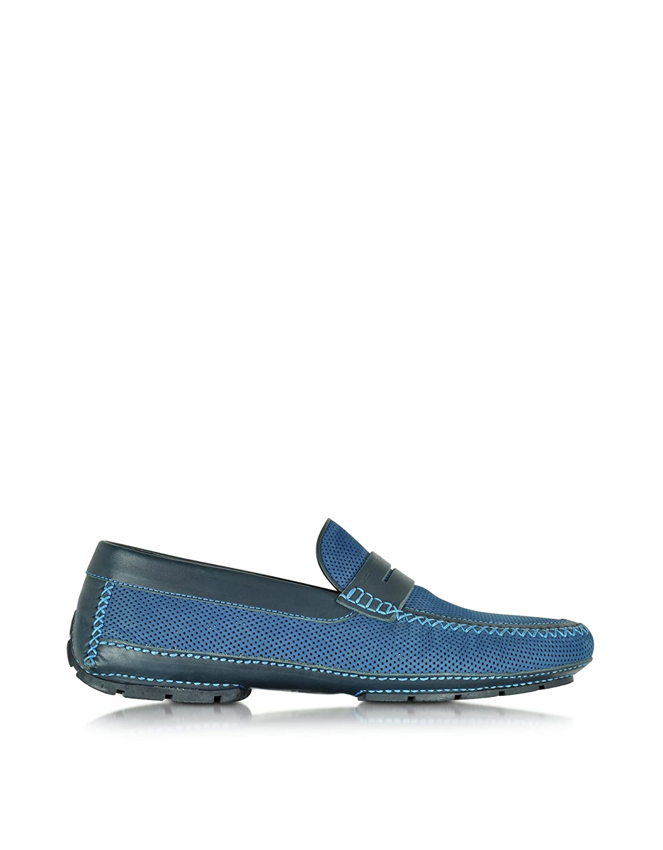 MORESCHI MEN'S 41599SHBAHAMASBLUE BLUE LEATHER LOAFERS