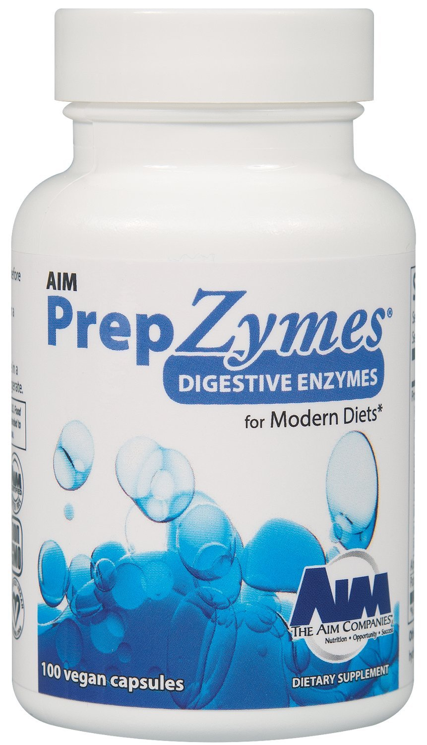 AIM PrepZymes to supplement digestive enzymes, 100 capsules by AIM