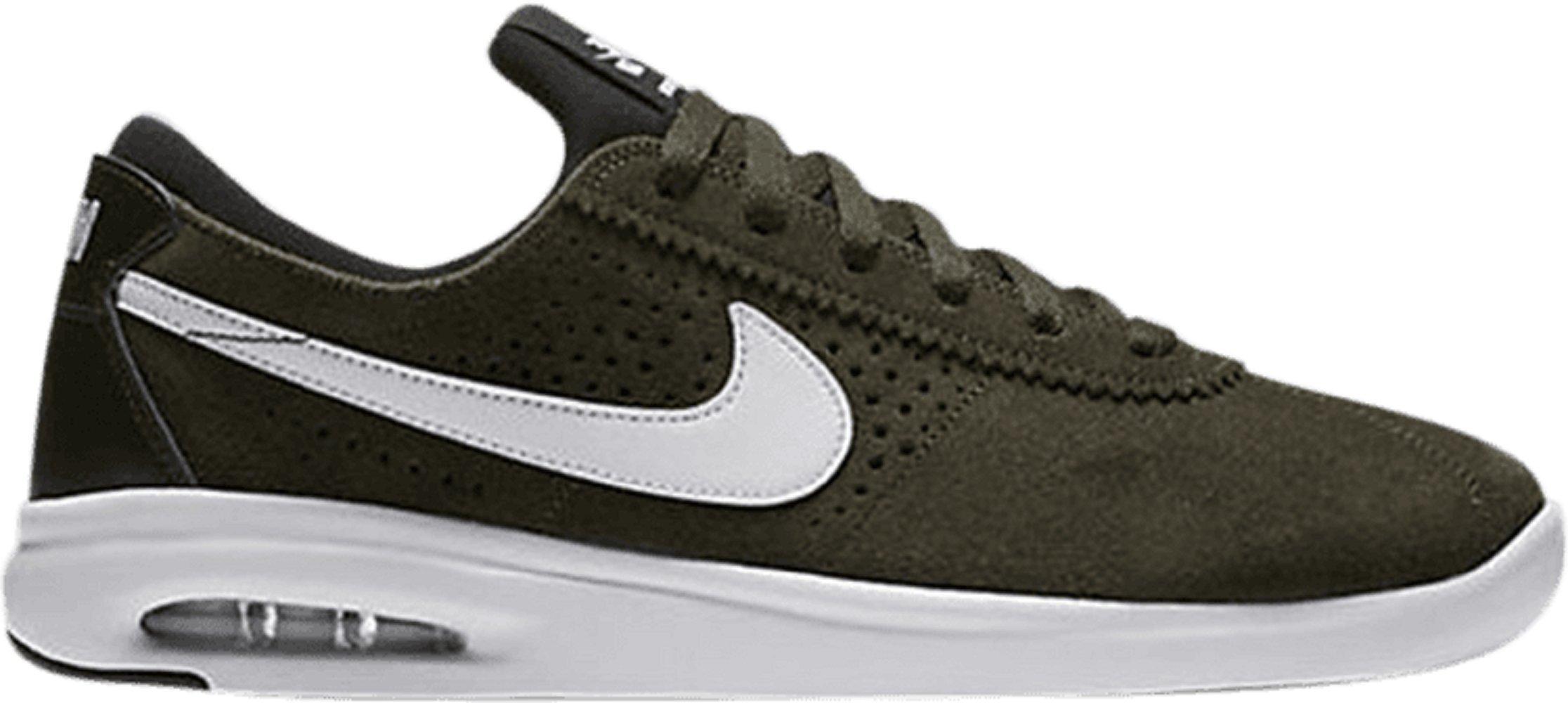 Nike SB AIR MAX Bruin VPR TXT Mens Skateboarding Shoes AA4257 700_9.5 Yellow OchreObsidian RED Crush White