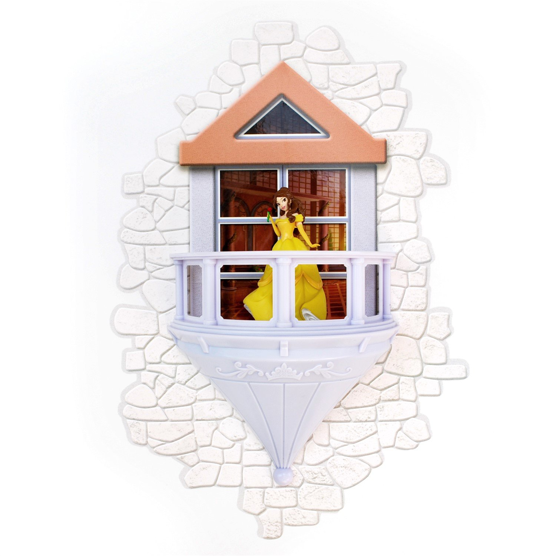 3DLightFX Disney Belle Princesa 3D Lámpara de Pared | Con Vinilos | Luz Nocturna con Apagado Automático | Funciona con Pilas | Niños Lámpara [Clase de eficiencia energética A++] GG0619