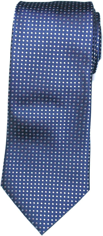 Towergem Extra Lungo Cravatta Blu//Dots Uomo XL Broccato Cravatta 63