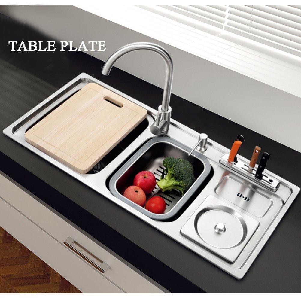 2.0 Doppelnapf Edelstahl Küchenspüle Spüle Unterbau mit ...