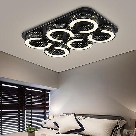 HG® 72W LED Deckenlampe Markantes Design Badezimmer Lampe eckig Energiespar  Weiß Modern Deckenbeleuchtung