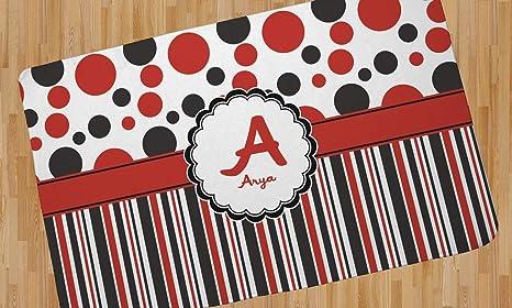 Amazon.com: Dots & Stripes Area Rug (personalizada) Color ...