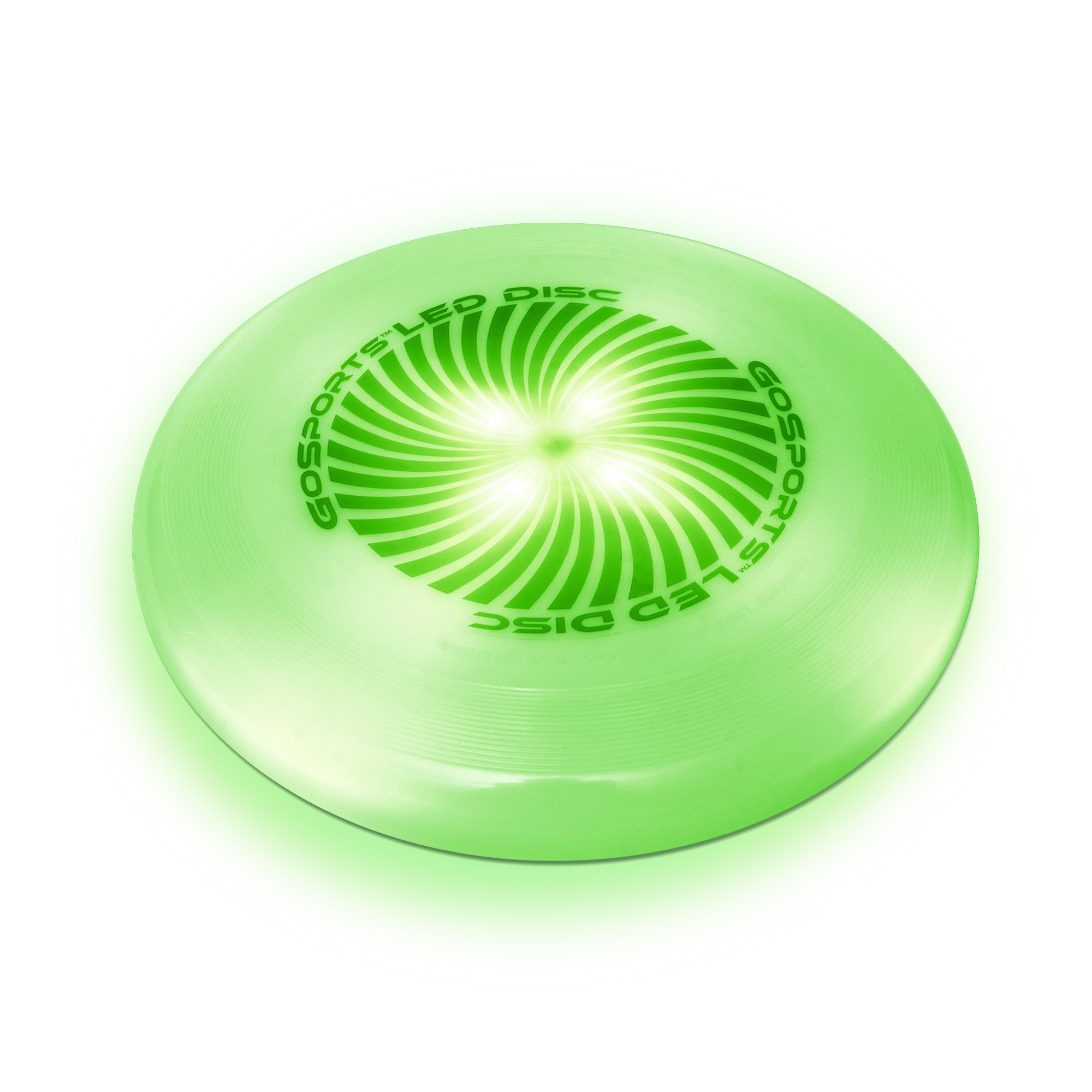 GoSports LED Flying Disc, 175 grams, with 4 LEDs, Green by GoSports