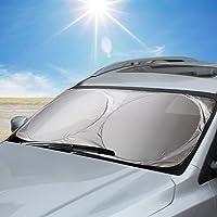 Aodoor Parasole per parabrezza, Parasole per la Parabrezza Anteriore, Ripiegabile per Evitare i Raggi del Sole, Protettore Contro i Raggi UV, 160 x 86 cm