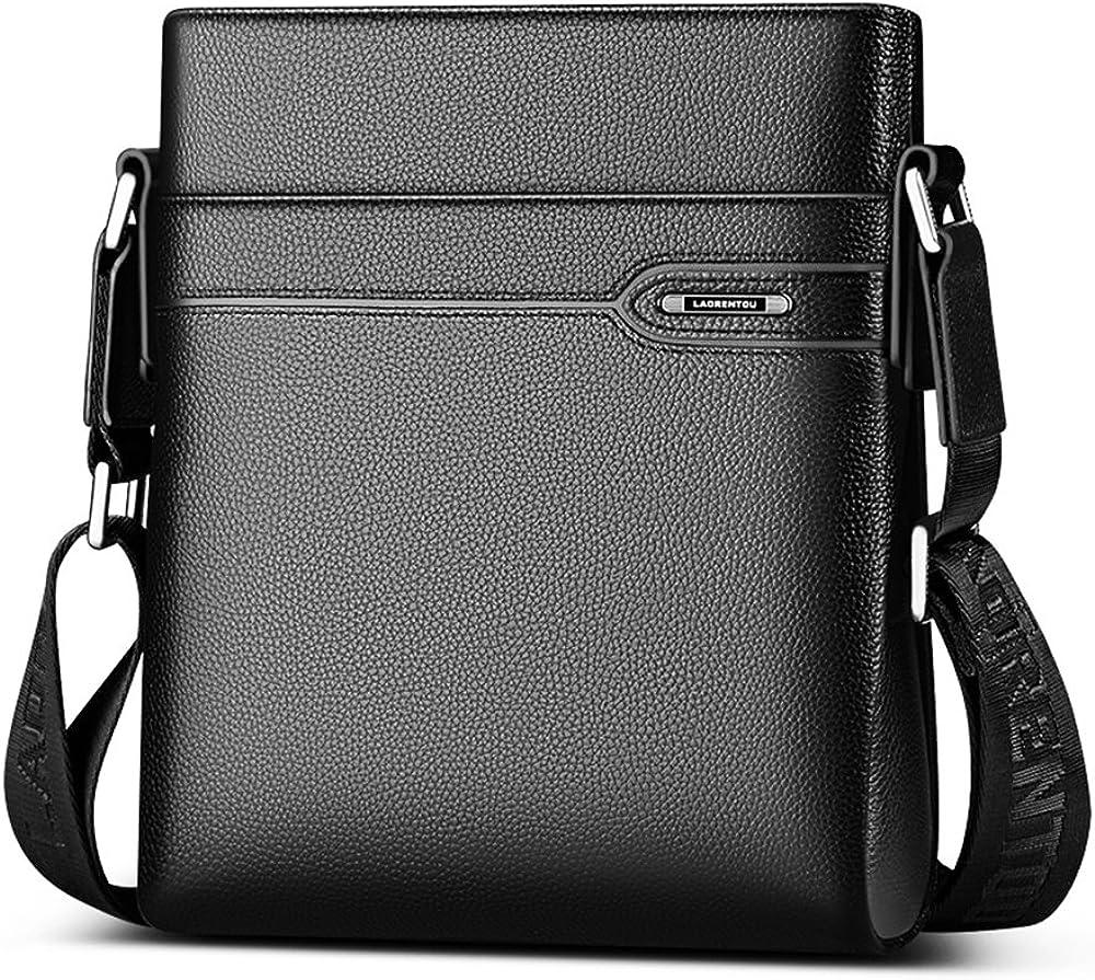 men genuine leather messenger shoulder bag Satchel Handbag Cross body Bags