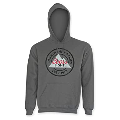 Coors Light Men's Classic Grey Hoodie at Amazon Men's Clothing store: