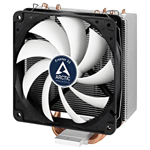 ARCTIC Freezer 33 - Semi Passive CPU Tower Cooler with 120 mm PWM Fan for Intel 115X/2011-3 & AMD AM4 - German Semi Passive Fan Controller - PWM Sharing Technology (PST)