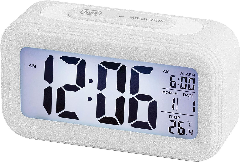 Trevi - Reloj Despertador, Blanco, único