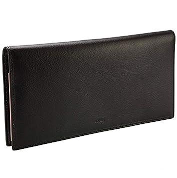 VANITY-puerta Chéquier largo-Cartera piel R 6502-23 x 11 cm, diseño de flores, lápiz capacitivo, color negro: Amazon.es: Equipaje