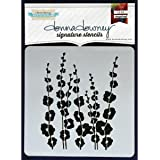 Donna Downey Stencils, Poppy Stems, 8.5 by 8.5-Inch