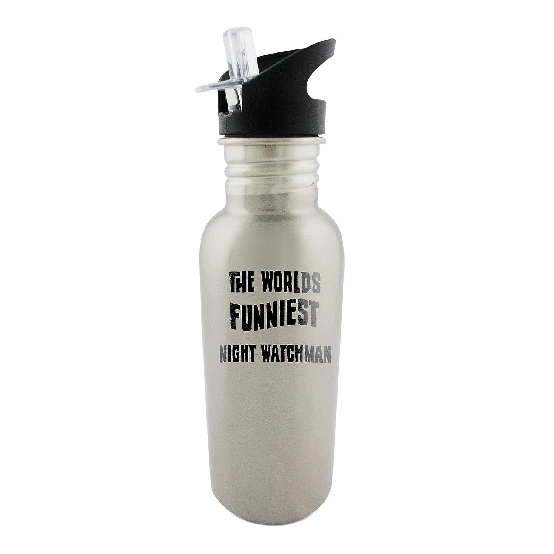 El mundo más divertidos de la noche vigilante acero inoxidable 600 ml botella con pajita: Amazon.es: Hogar