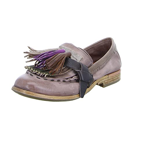 A.S.98Damen Slipper 917114 - Zapatos de vestir brogues Mujer , color morado, talla 41: Amazon.es: Zapatos y complementos