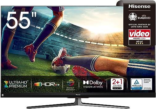 Hisense 55u8qf Qled 139cm 55 Zoll Fernseher 4k Uled Hdr Smart Tv Ultra Premium Hd Hdr10 Dolby Vision Atmos Full Array Local Dimming 120hz Panel Usb Recording Jbl Sound Alexa Built In Amazon De Heimkino Tv