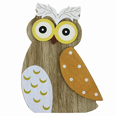 Amazon.com: LovenCity Gifts U0026 Decor Wooden Owl Wall Decor,Creative .