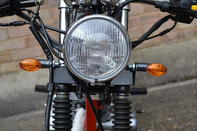 Blinker Motorrad 21w Carbon Optik Oval Paar