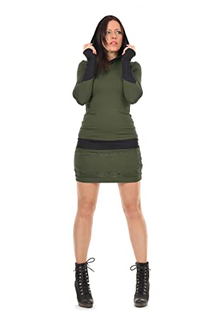 3Elfen vestido mujer negro con capucha para dama: Amazon.es: Ropa y accesorios