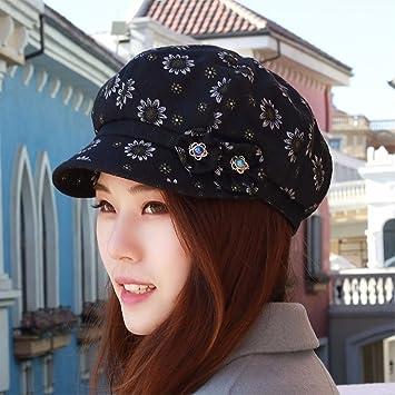 QIER-MZ Boinas Gorras De Tela Para Mujer Gorras Sombreros Finos Sunhats Cap  Respirables Cap 38e672d315ce
