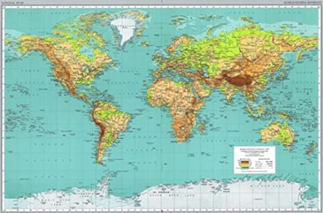 Amazon world map 18x24 poster new rare bhg315646 posters world map 18x24 poster new rare bhg315646 gumiabroncs Image collections