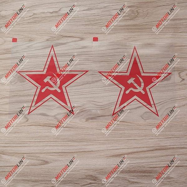 Russian CCCP Red Star Soviet Russia Car Sticker Vinyl Decal 2/'/' 6/'/' 10'' 20/'/'