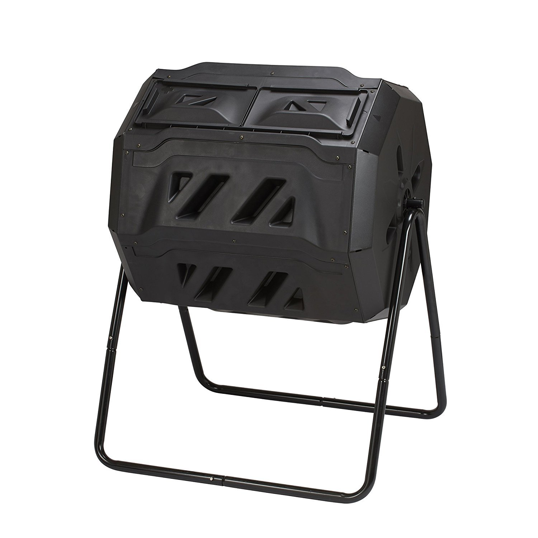 Rotación Tumbling Compost cubo de basura con 2 secciones, grasa ...