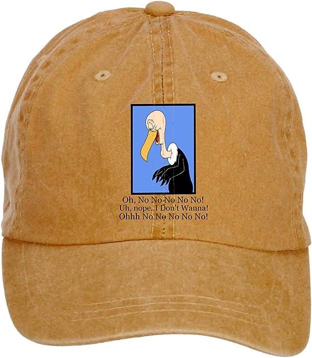 f14f37e59e396 fengting Beaky Buzzard Cartoon No No adulto algodón lavar Gorra de béisbol  con cierre de velcro ajustable sombreros tapas
