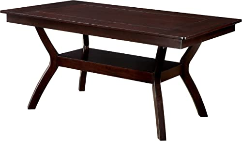Furniture of America Dalcroze Dining table, Dark Cherry