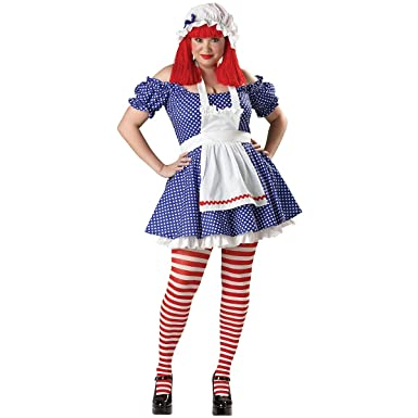 bd750288f56 Amazon.com  Racy Rag Doll Adult Costume - Plus Size 2X  Clothing