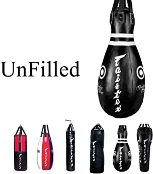 Fairtex UNFILLED HB10 - Bowling Bag Black Heavy Punching Bag for ...