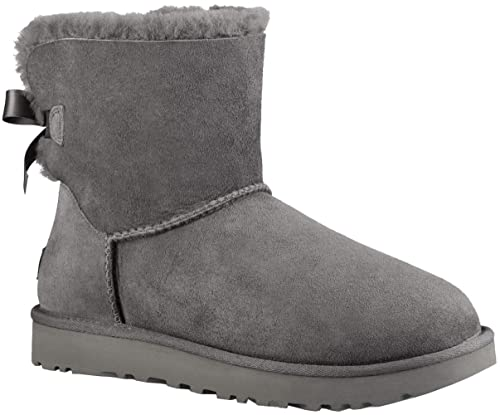 Lambskin Boots Mini Bailey Bow Grey