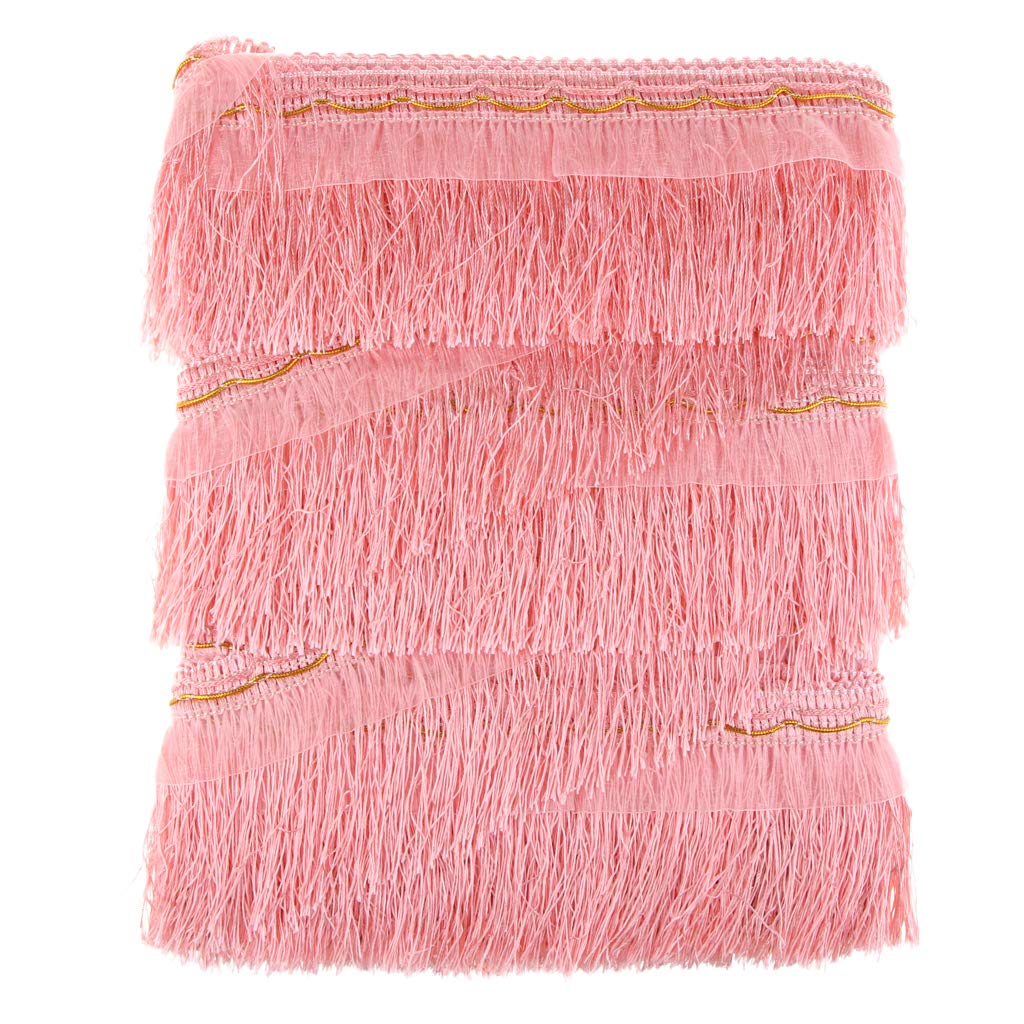 as described 1 Roll Tassel Fashion Curtains Braid Trim Fringe Trimming DIY Edge Tassel Upholstery for Sewing Crafts Shell pink
