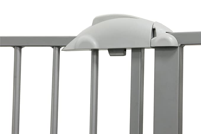 """68.9/"""" Metal White Barrier Kid Pet Child Safetygate MIKA 29.5/"""" Door and Stair"""