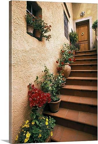 Tuscan Staircase Canvas Wall Art
