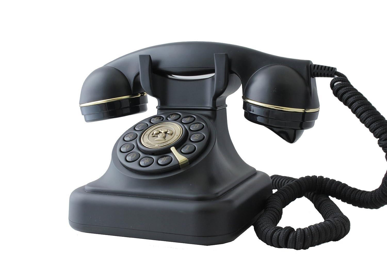 Brondi Vintage 20 Schnurgebundenes Analog-Telefon im stilvollen Retro-Design mit vergoldeten Details