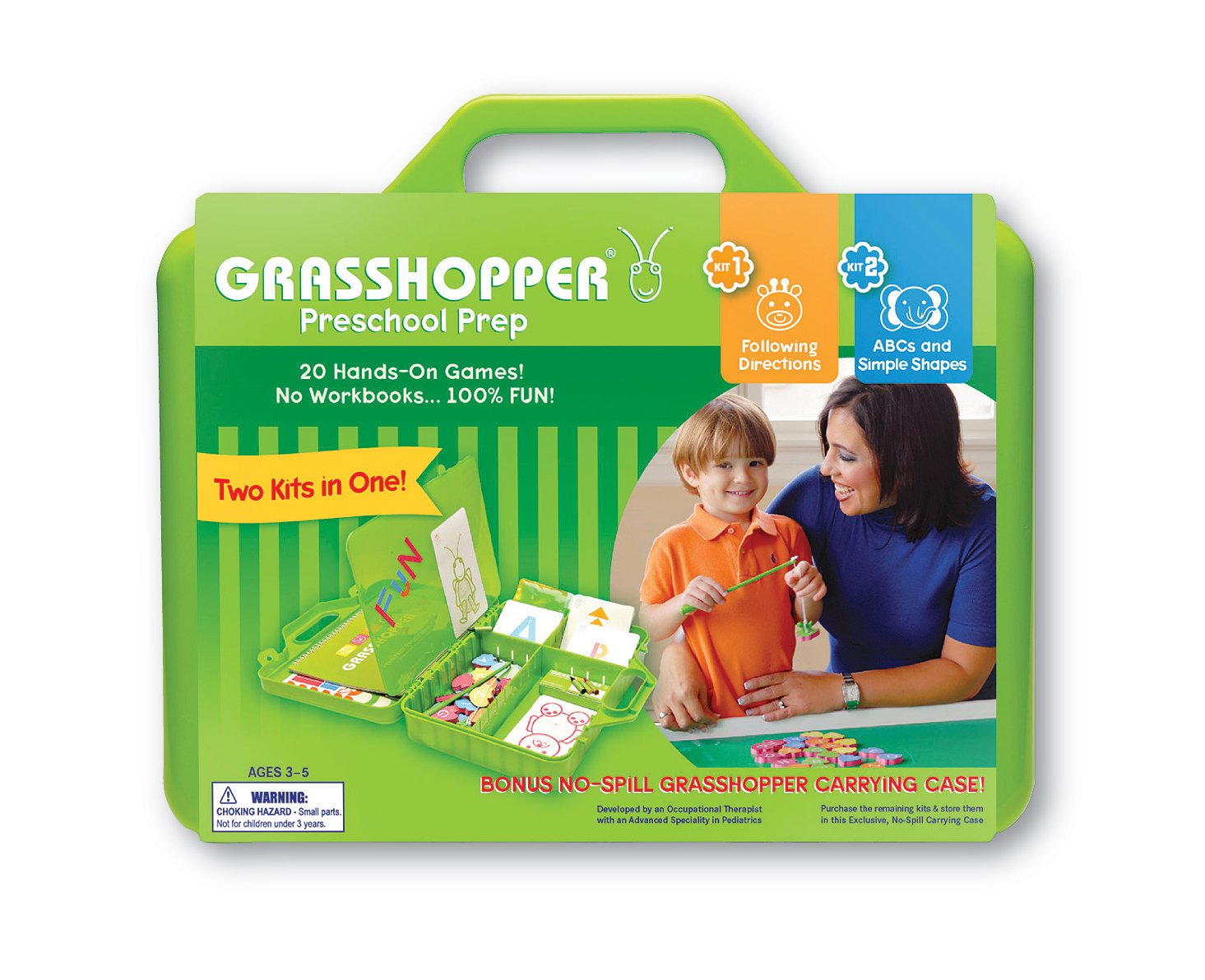 Amazon.com: Grasshopper Preschool Prep Kids ABCs & Following ...