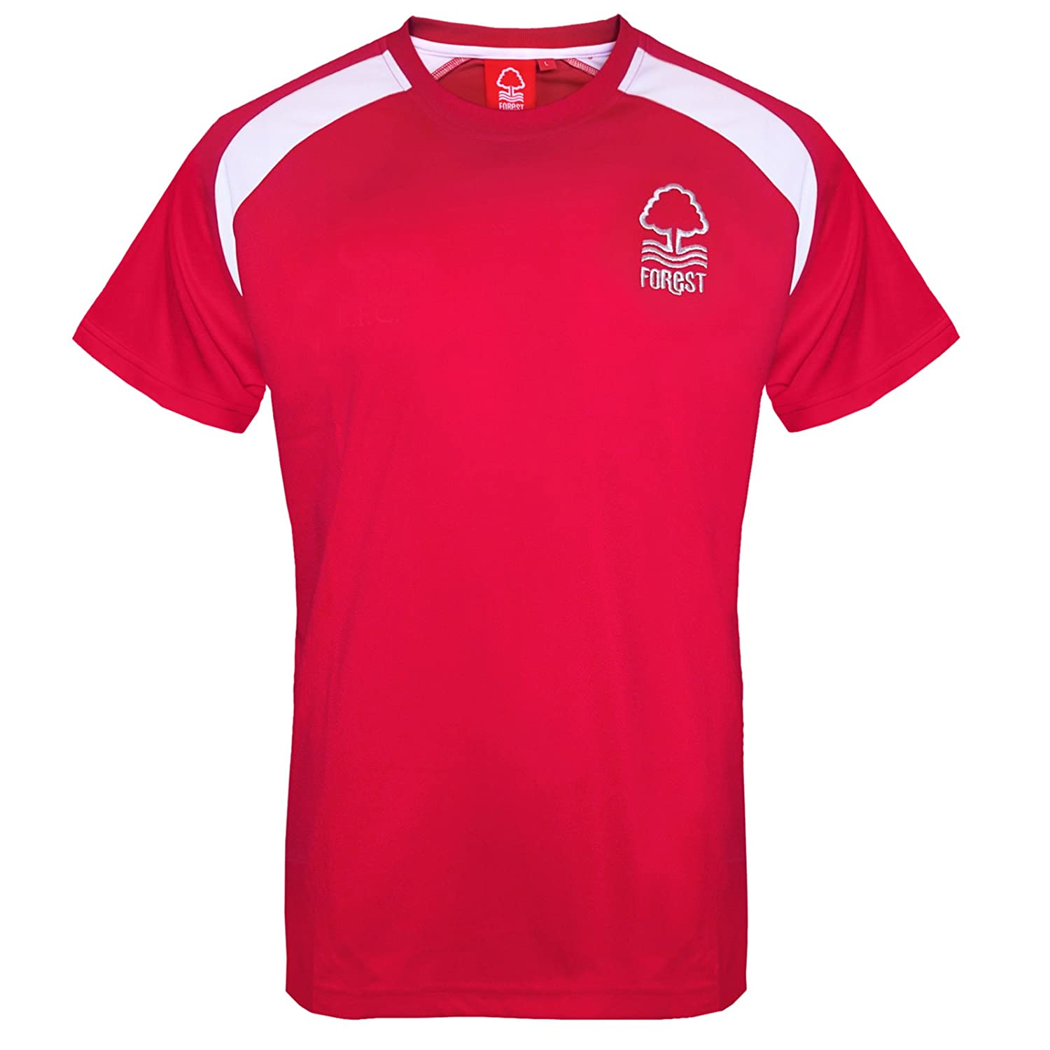 Nottingham Forest Fc Official Football Gift Mens Poly Training Kit Tshirt
