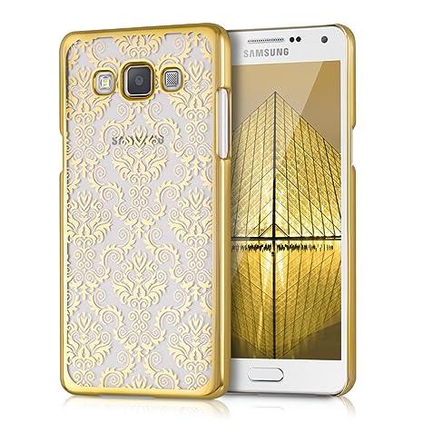 kwmobile Funda para Samsung Galaxy A5 (2015) - Carcasa de [plástico] para móvil - Protector [Trasero] en [Dorado/Transparente]