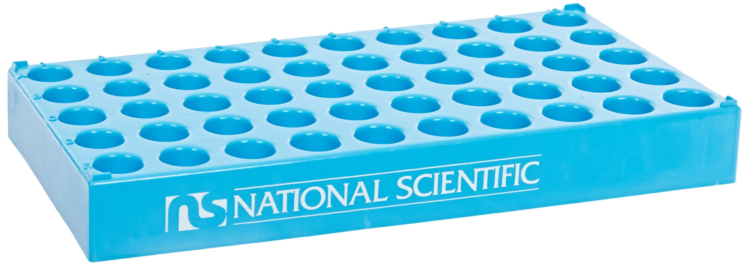 National Scientific C4015-25 Polypropylene Vial Rack for 15mm Diameter Vial (Case of 5)