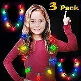 Soinfun 3 Pack LED Light Up Flashing Bulb