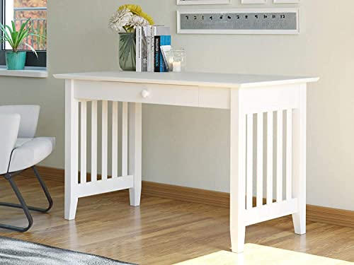 Atlantic Furniture Mission Desk with Drawer, White