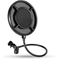 Mic Pop Filter, Professional Metallic Mic Pop Filter Mesh for Blue Yeti and Any Other Mic, WINDBOX Dual Layered…
