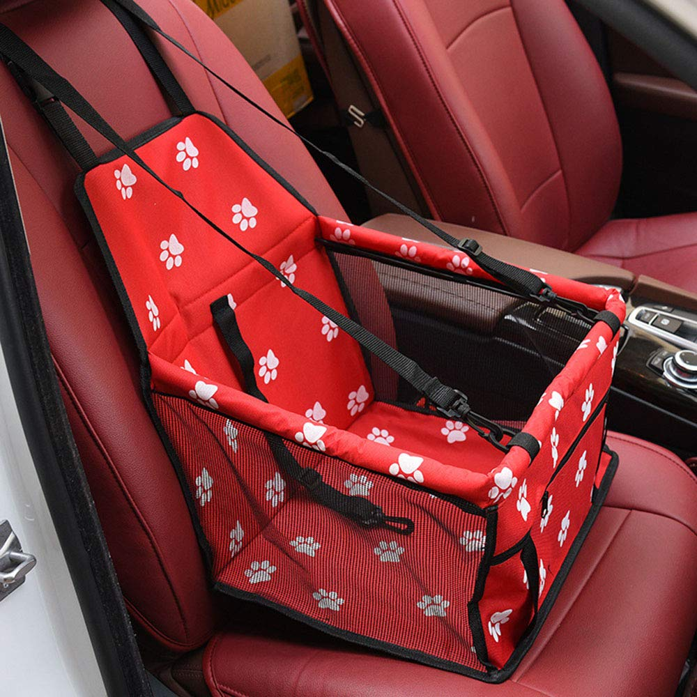 YHL Dog Car Carrier Dog Seat Belt for Car with Mesh Bag Waterproof for Small Pets (403025Cm),Red by YHL