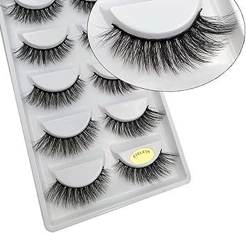5115dce7231 Amazon.com : CerroQreen Eyelashes, Thick Curly Lashes, 5 Pairs 4D Mink  Lashes, False Lashes (eyelashes -02) : Beauty